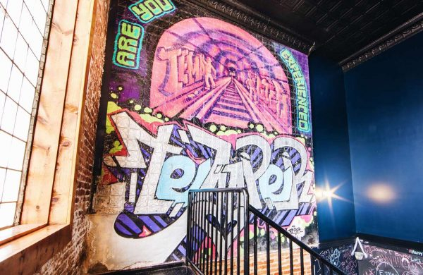 Graffiti Art Mural | Bottom Lounge Weddings | Artist: Temper