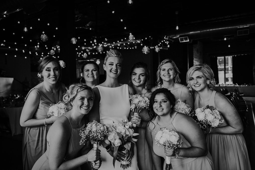 Bridesmaids | Bottom Lounge Weddings | Dana & Bobby | Photographer: Native Among You