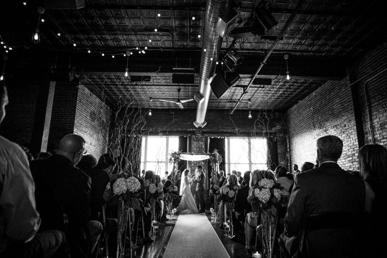 Ceremony | Bottom Lounge Weddings | Rachel & Jason | Photographer: Mark Burch