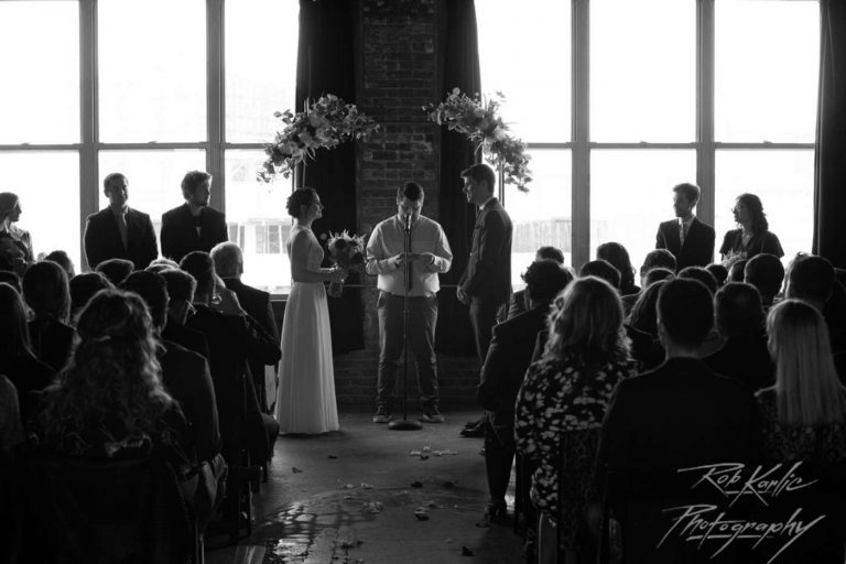 Ceremony | Bottom Lounge Weddings | Sarah & Brian | Photographer: Rob Karlic