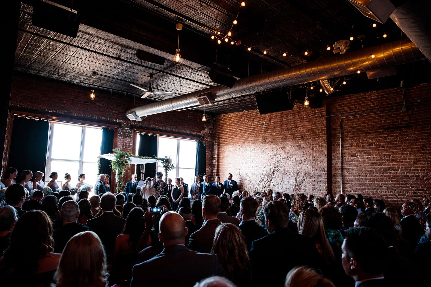 Ceremony Space | Bottom Lounge Weddings | Rachel & Jason | Photographer: Mark Burch