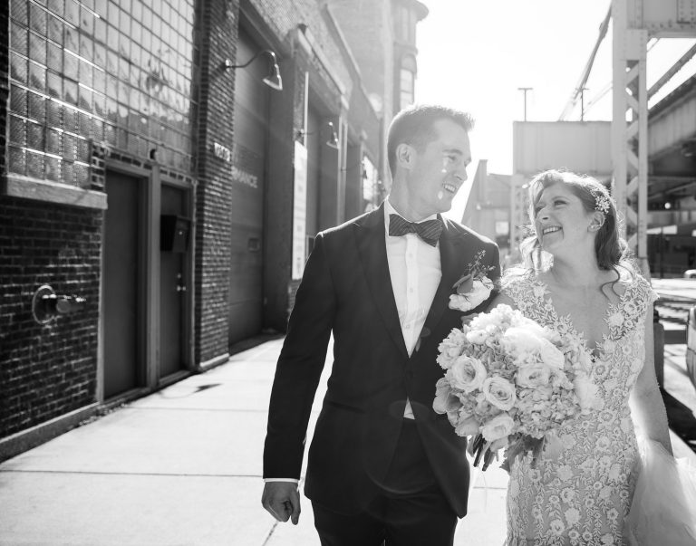 Lake Street Portrait | Bottom Lounge Weddings | Rachel & Jason | Photographer: Mark Burch