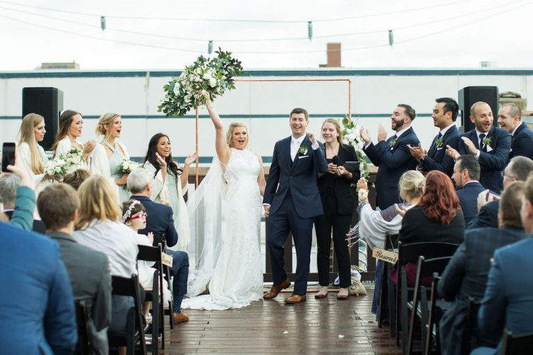 Outdoor Ceremony | Bottom Lounge Weddings | Kaitlyn & Eric | Photographer: Zachera Wollenberg