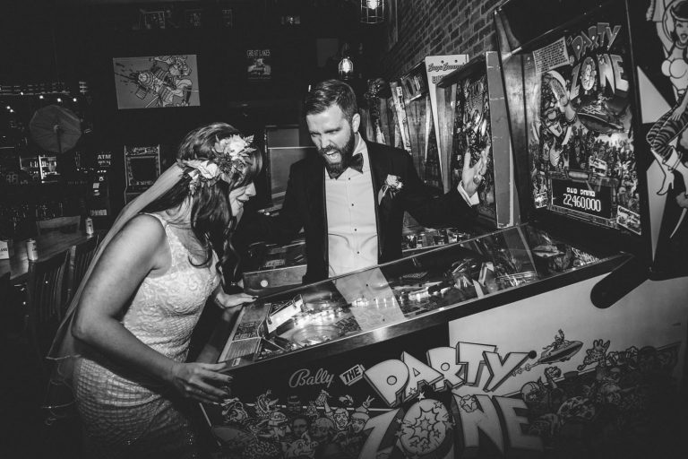 Pinball | Bottom Lounge Weddings | Brittany & Patrick | Photographer: A. O'Brien