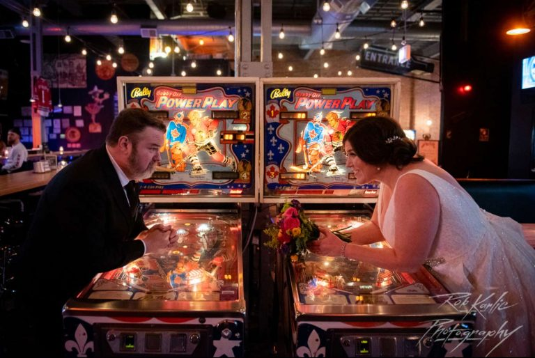 Pinball | Bottom Lounge Weddings | Meghan & Bill | Photographer: Rob Karlic