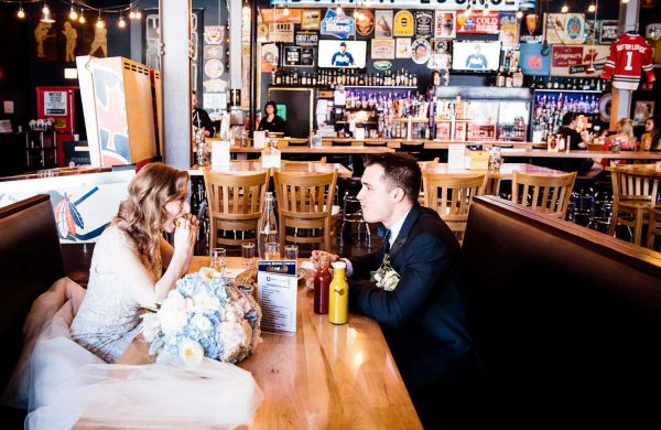 Restaurant Portrait | Bottom Lounge Weddings | Rachel & Jason | Photographer: Mark Burch
