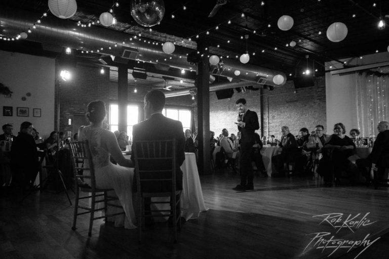 Toast | Bottom Lounge Weddings | Sarah & Brian | Photographer: Rob Karlic