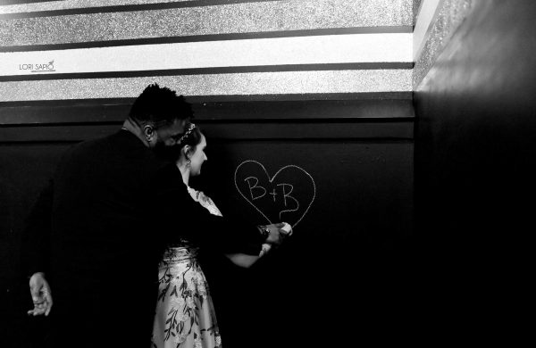 Chalkboard Wall | Bottom Lounge Weddings | Alicia & Roy | Photographer: Lori Sapio
