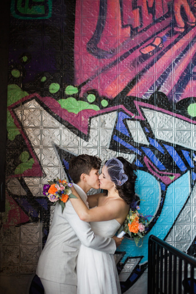 Chalkboard Wall | Bottom Lounge Weddings | Shannon & Liz | Photographer: Zachera Wollenberg