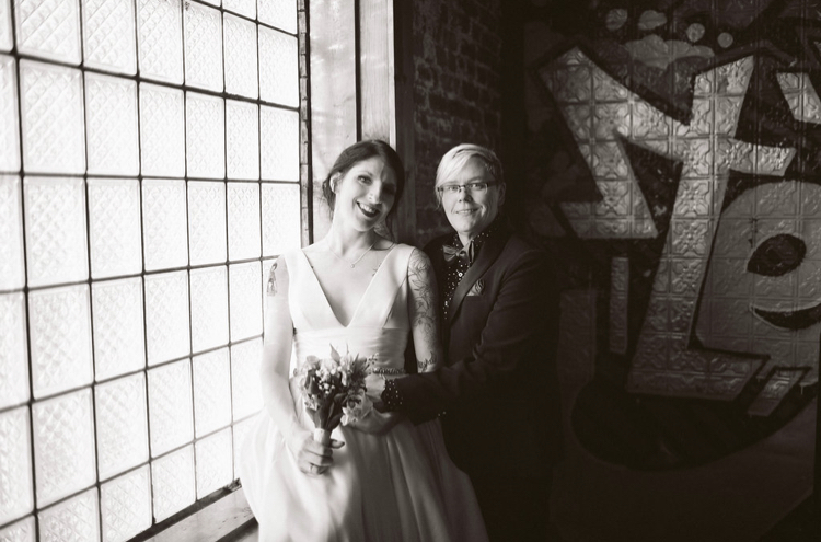 Stairwell | Bottom Lounge Weddings | Joanna & Ptree | Photographer: Rachel Goble
