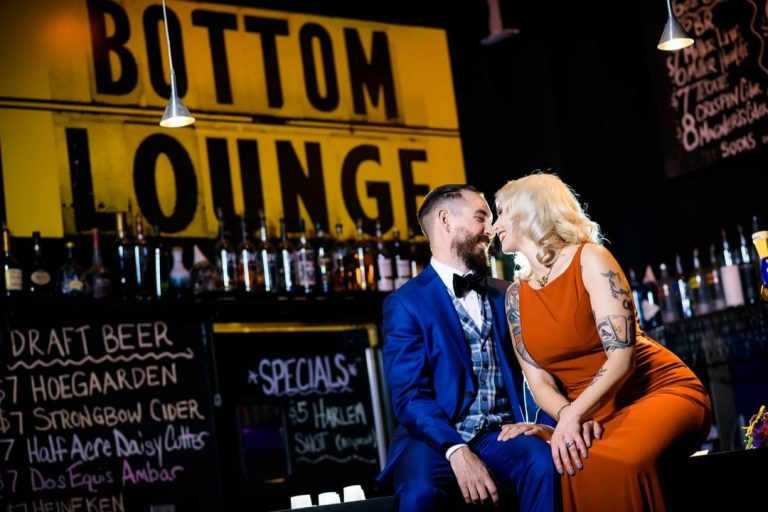 Rock Club Wedding   Bottom Lounge Weddings   Kendra & Jason   Photographer: J. Brown